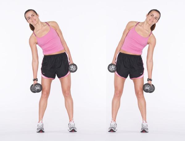 как убрать жир с боковых мышц