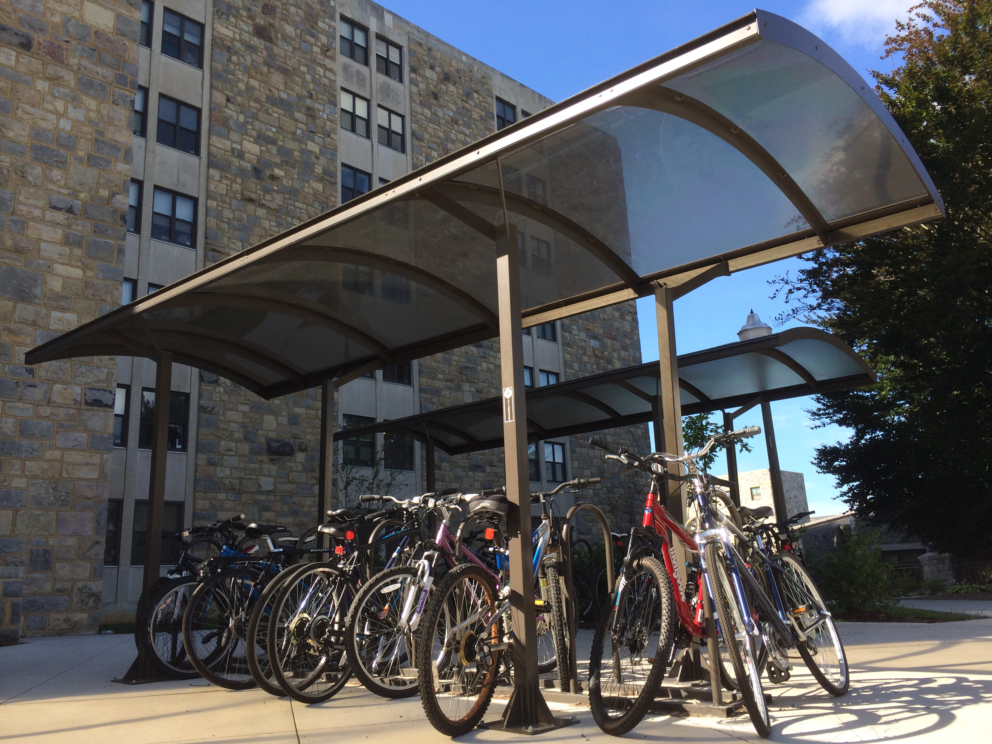 Garage Journal Bike Storage University Boosts Bicycle Parking On Campus Virginia Tech Daily