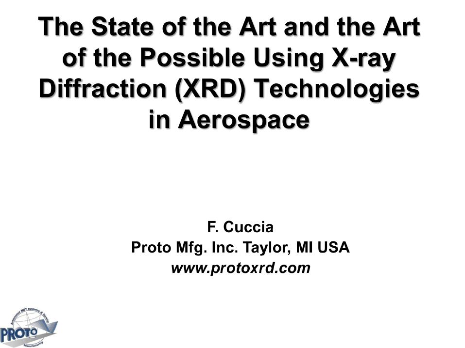 The State of the Art and the Art of the Possible Using X-ray
