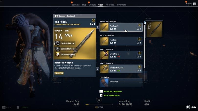 Assassin\u0027s Creed Origins Weapons Guide - VULKK