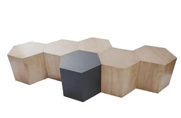 Hexagon Modular Honeycomb Shaped Furniture System Vurni