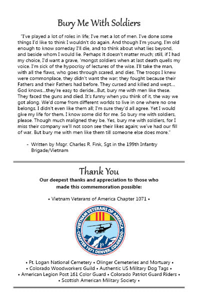 Honors Burial Project - VVA Chapter 1071