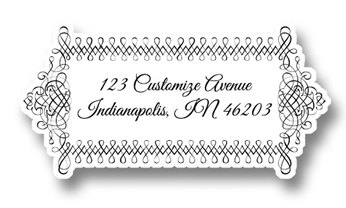 Elegant Return Address Label - VVIXCI - Address Label