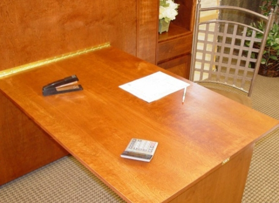 Murphybed Drop Down Desk Table Wilding Wallbeds
