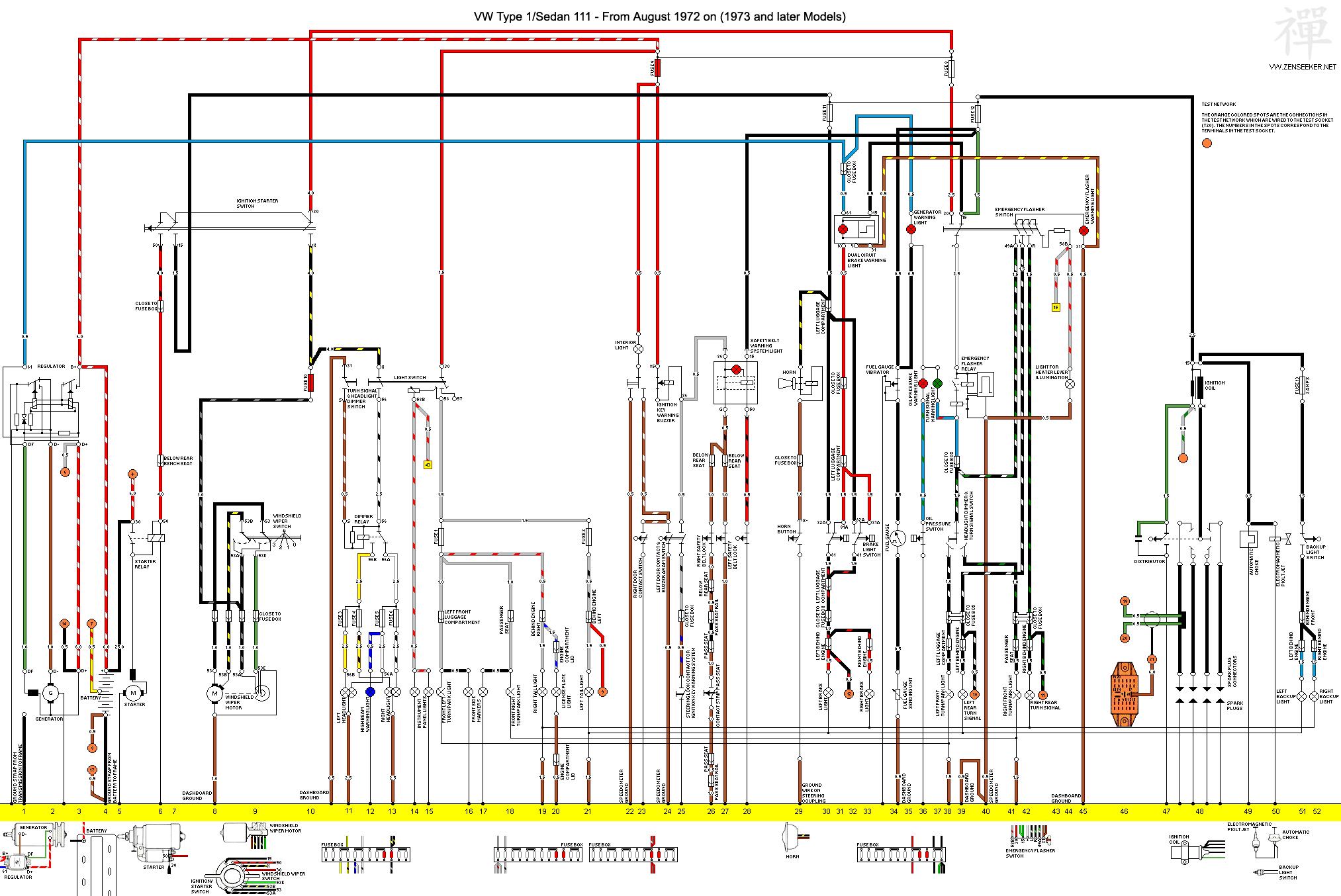 1973 vw thing steering column wiring diagram