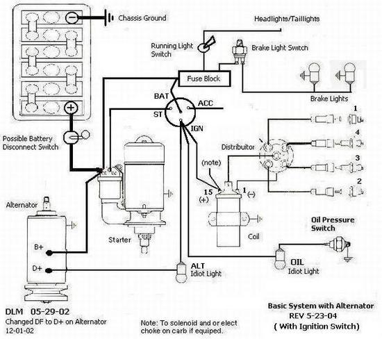 generator motor ledningsdiagram
