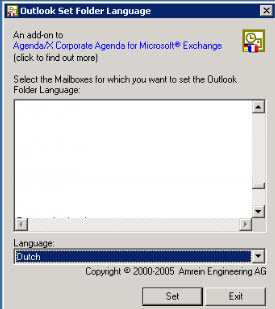 how to change outlook language