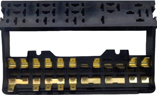 Fuse Box, 12 Fuse, 2 Level (With Relay Tower), 1973-77 Beetle Sedan