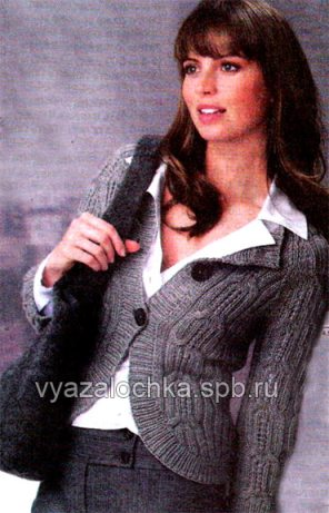 вязание женского жакета