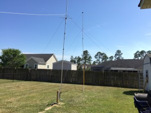 Antennas in the back yard