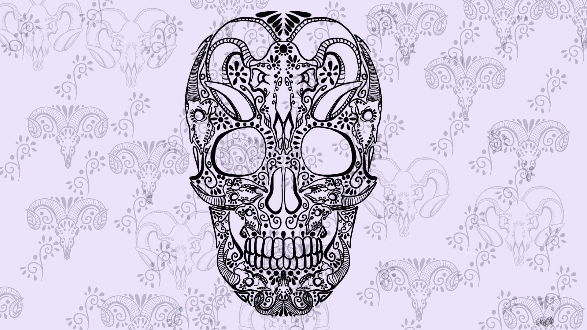 Fullsize Of Sugar Skull Wallpaper