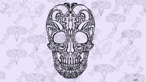 Medium Of Sugar Skull Wallpaper