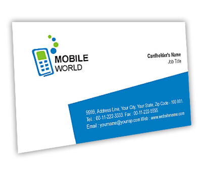 Business Card Design for Mobile Communications Offset or Digital