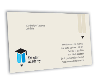 Business Card Design for Education Academy Offset or Digital printing