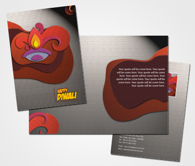 Greeting Card Design for Happy Diwali Greeting Offset or Digital