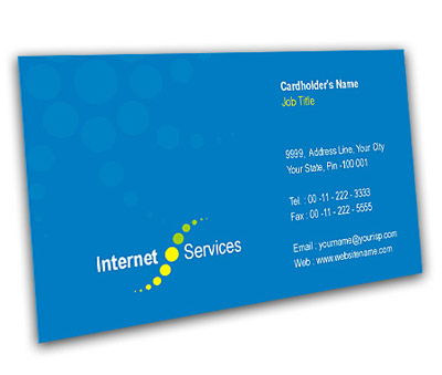 Business Card Design for Cable Internet Service Offset or Digital