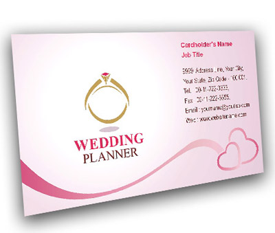 Business Card Design for Wedding Event Offset or Digital printing - on line business cards