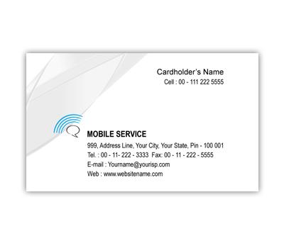 Business Card Design for Mobile Shop Offset or Digital printing