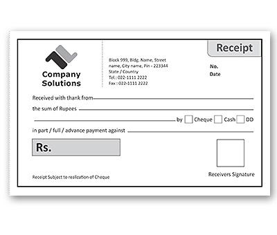 Bill Book Design for Office Receipt Offset or Digital printing
