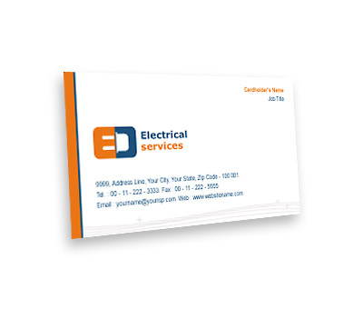 Business Card Design for Electrical Services Offset or Digital printing