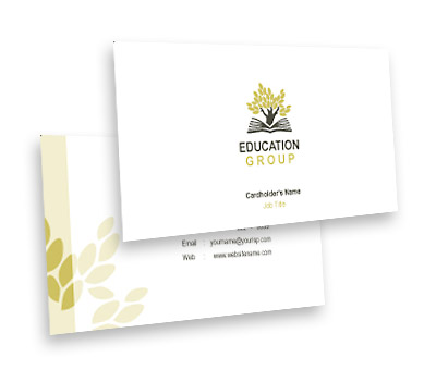 Business Card Design for Education Center Offset or Digital printing