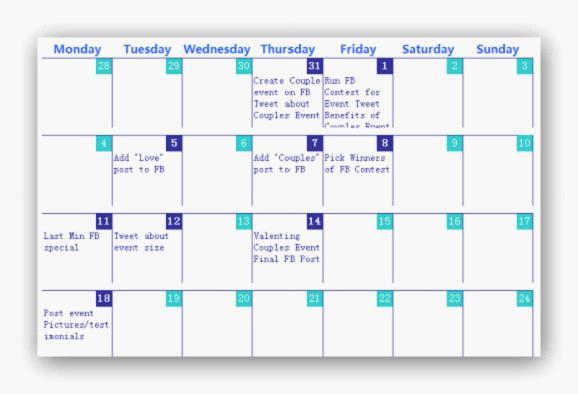 How To Create your Social Media Calendar \u2022 W2S Marketing