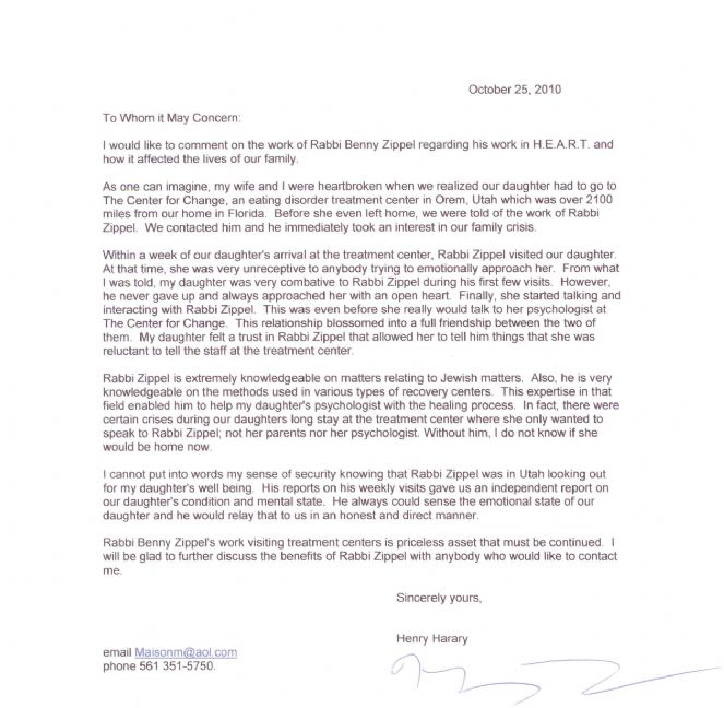 Thank You Letter 2 - Chabad Lubavitch of Utah
