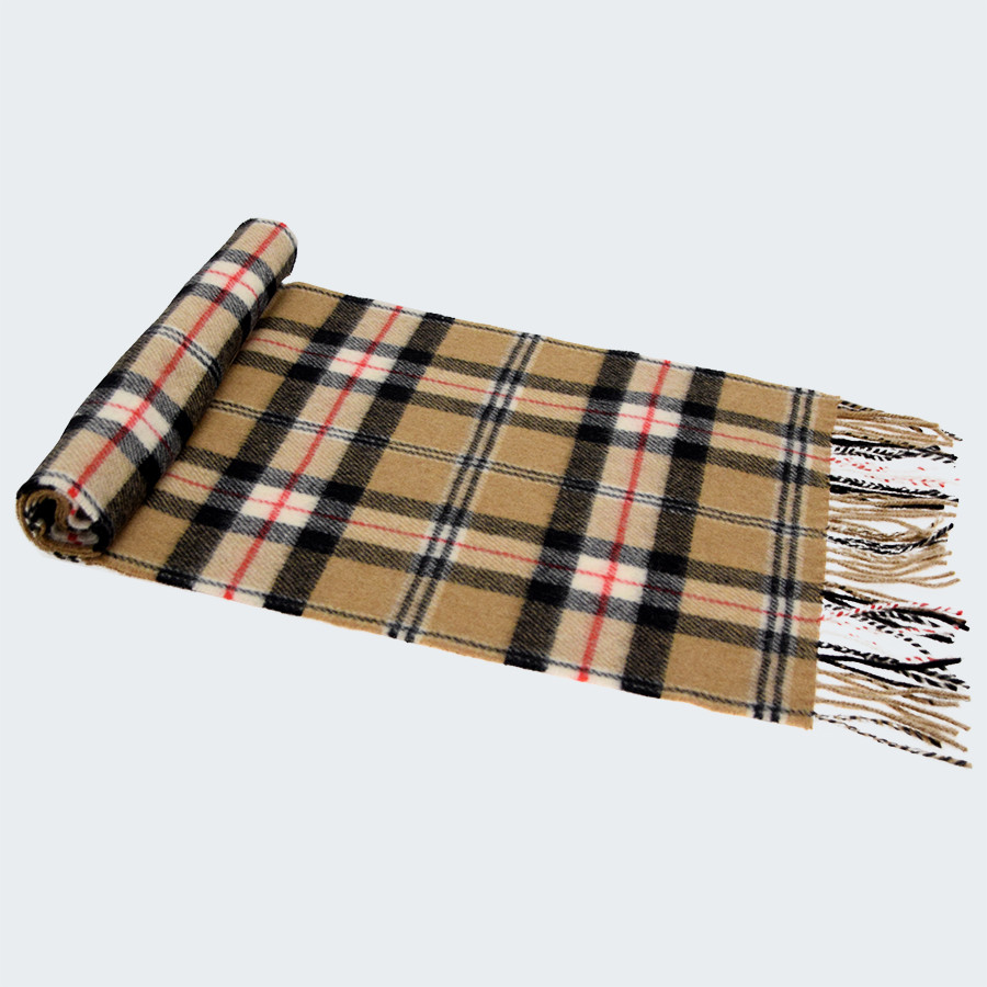 Plaid Tres Chaud Lambswool Scarf John Hanly