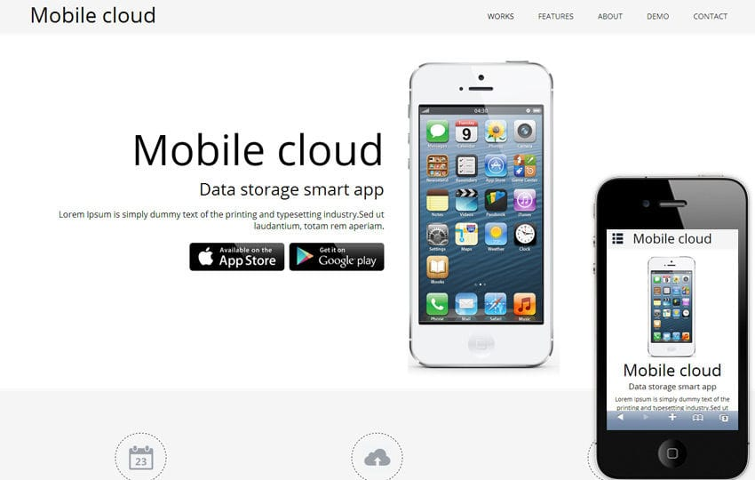 Mobile Cloud a App based Mobile Website Template by w3layouts - Free App Template