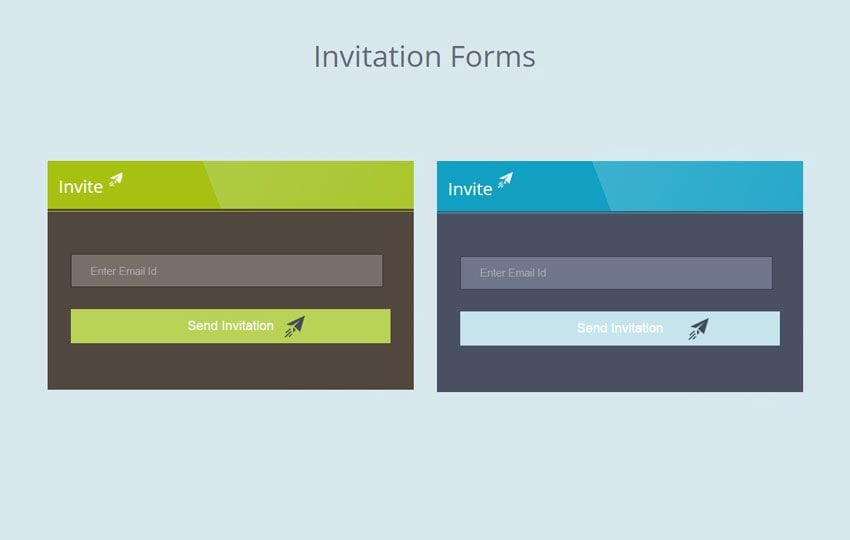 Flat Invitation Forms Widget Template by w3layouts
