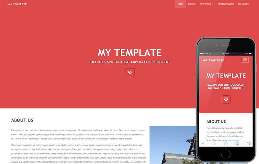 My Template a General Purpose Bootstrap Responsive Web Template by - template