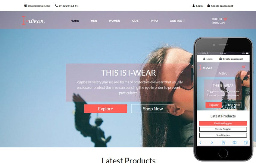 I Wear a Flat Ecommerce Bootstrap Responsive Web Template by w3layouts - how to create a website template