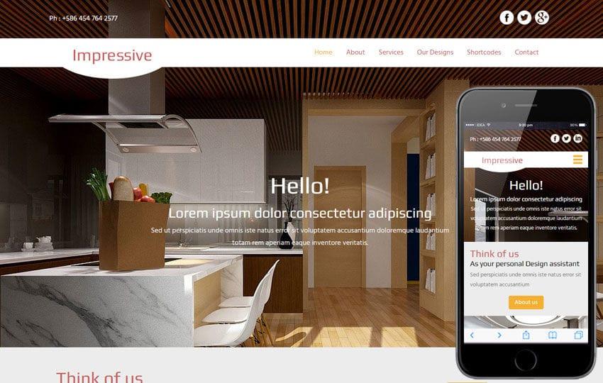Impressive a Interior Architects Multipurpose Flat Bootstrap - property management websites templates
