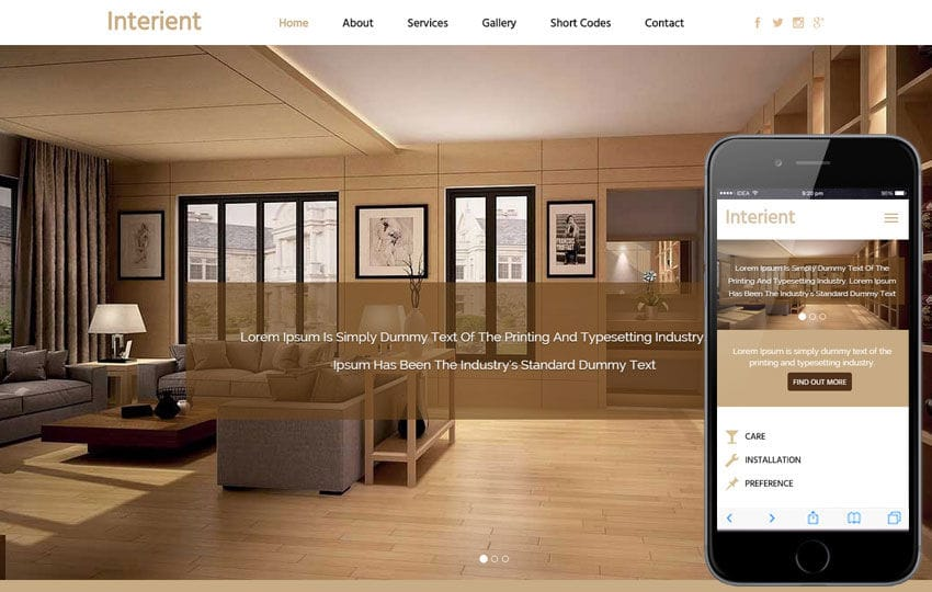 Interient a Interior Architects Flat Bootstrap Responsive Web