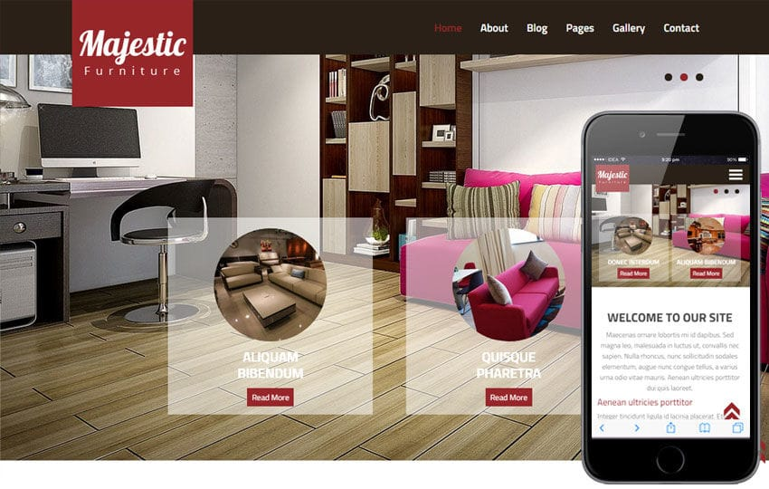 Majestic a Interior Architects Multipurpose Flat Bootstrap
