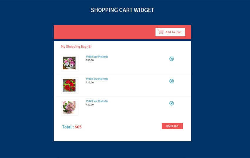 Shopping Cart Responsive Widget Template by w3layouts