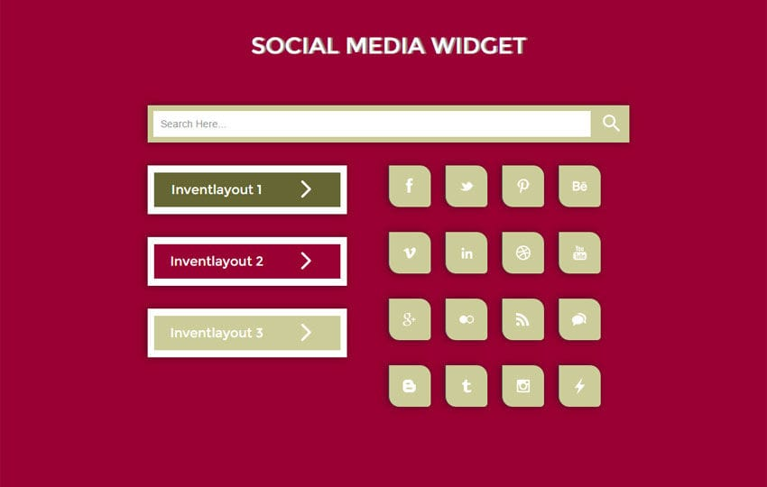 Social Media Responsive Widget Template by w3layouts