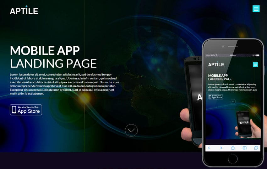 Aptile a Mobile App Landing Flat Bootstrap Responsive Web Template - app landing page template