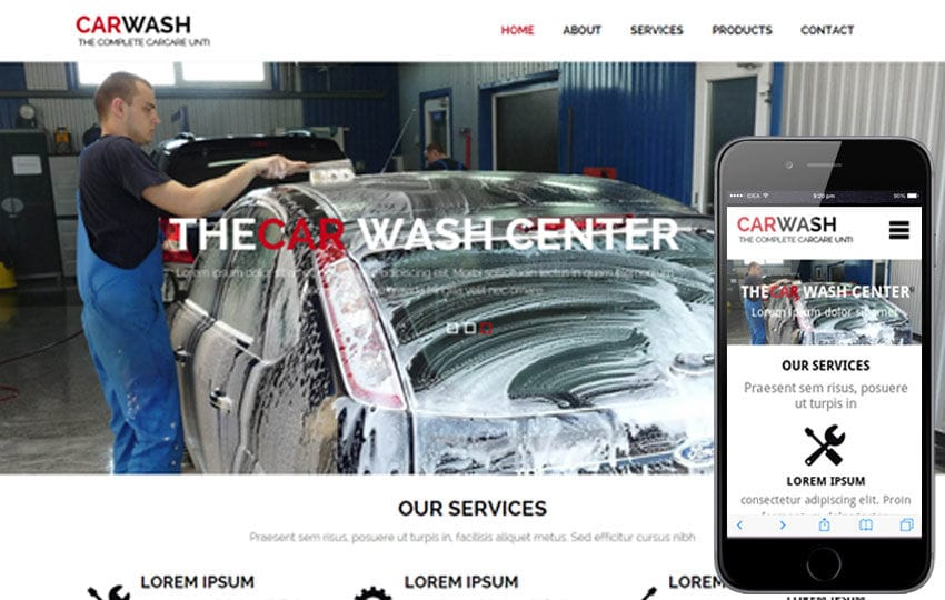 Car Wash a AutoMobile Category Flat Bootstrap Responsive Web