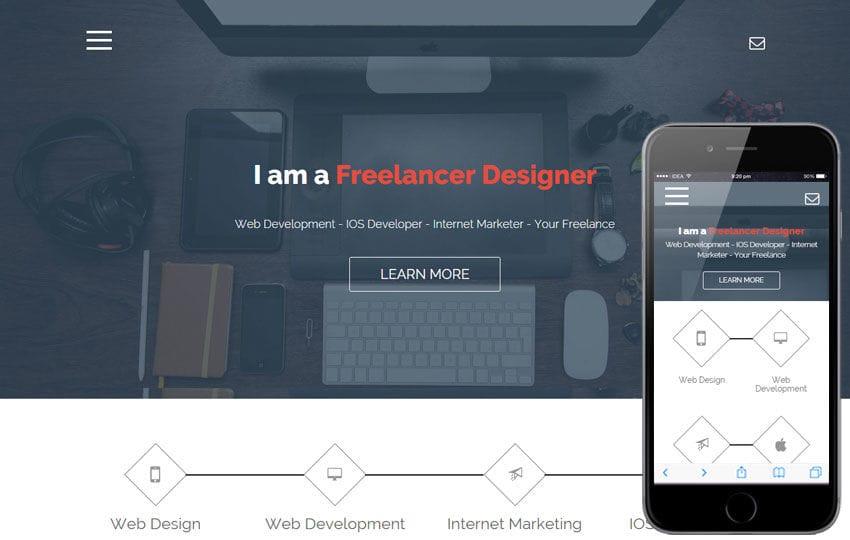 Freelance a Onepage Portfolio Flat Bootstrap Responsive Web Template