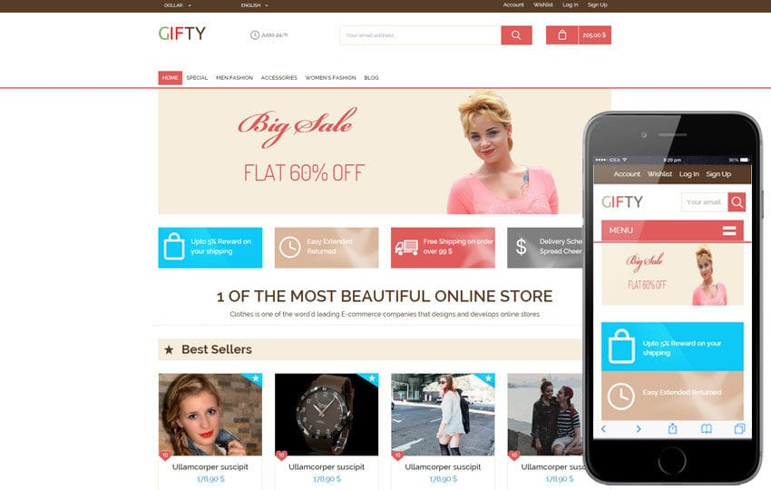 Gifty a Flat Ecommerce Bootstrap Responsive Web Template by w3layouts