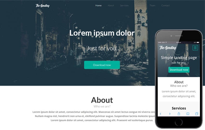 The Landing Page Flat Bootstrap Responsive Web Template by w3layouts