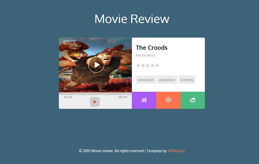 Movie Review Responsive Widget Template - w3layouts