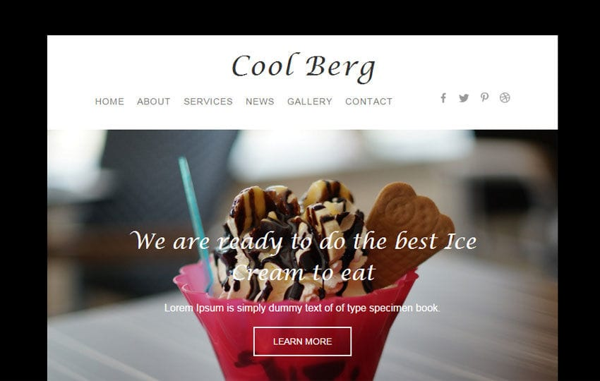 Cool Berg a Newsletter Responsive Web Template - w3layouts