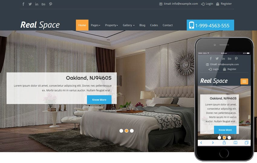 Real Space a Real Estate Category Flat Bootstrap Responsive Web