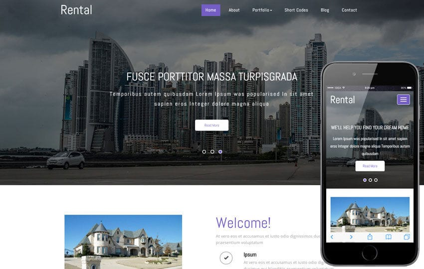 Rental a Real Estate Category Responsive Web Template - w3layouts