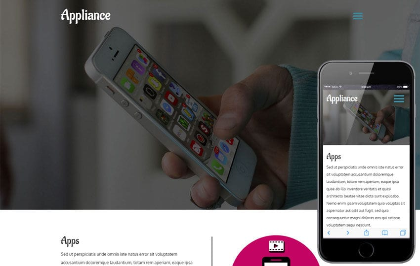 Mobile App website Templates Designs Free - Free App Template