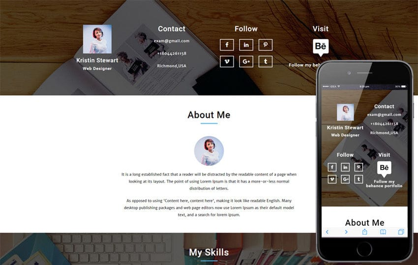 resume templates - w3layouts - personal resume template