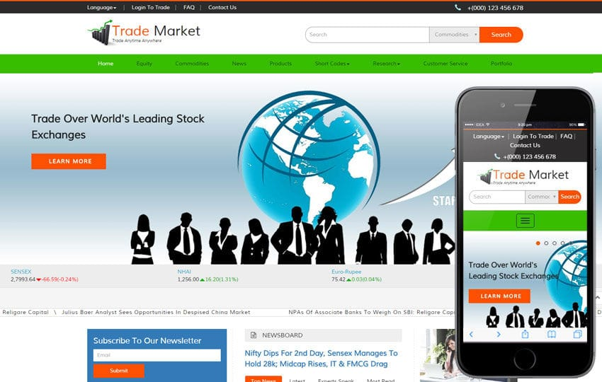 Trade Market a Corporate Business Bootstrap Responsive Web Template - market template