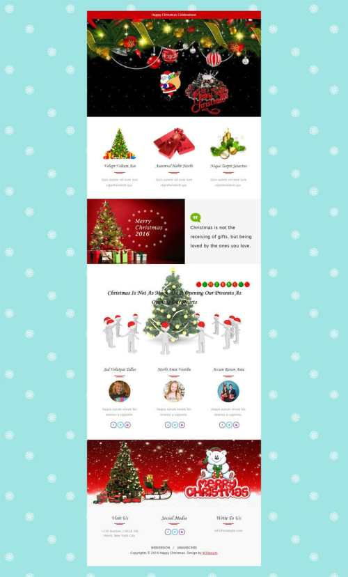 Medium Of Christmas Newsletter Template